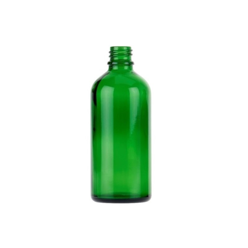 100ml Green Glass Tall Aura Dropper Bottle