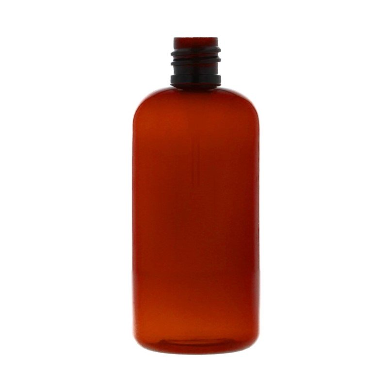 100ml Amber PETG Boston Round Bottle