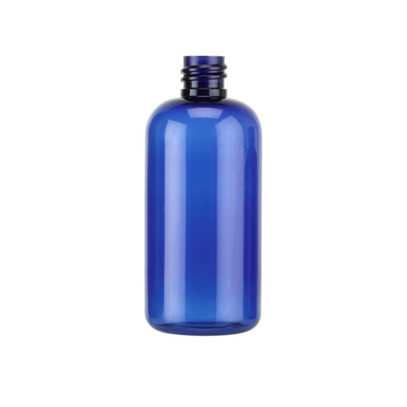 100ml Blue PETG Boston Round Bottle
