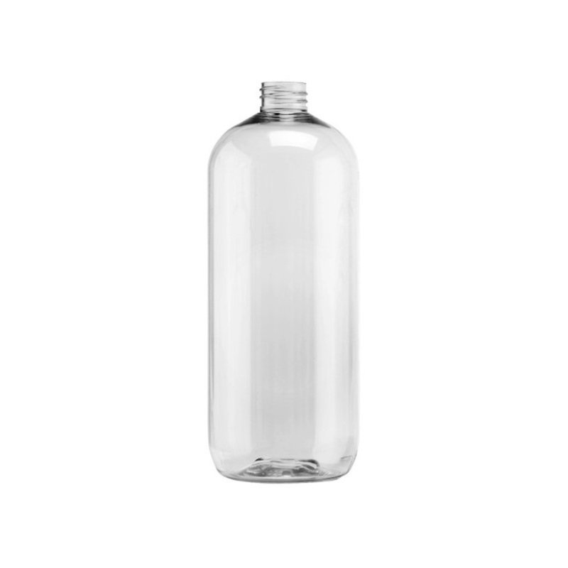 1 L Clear PET Boston Round Bottle