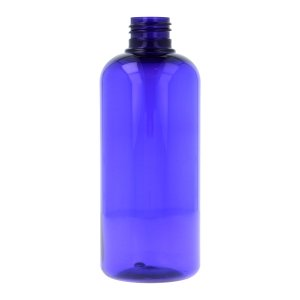 250ml Blue PET Boston Round Bottle