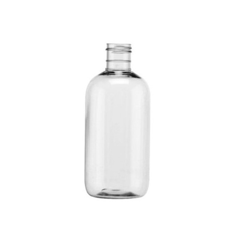 250ml Clear PET Boston Round Bottle