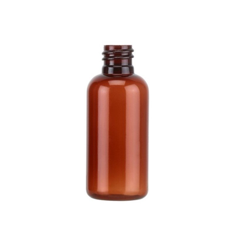 50ml Amber PET Boston Round Bottle