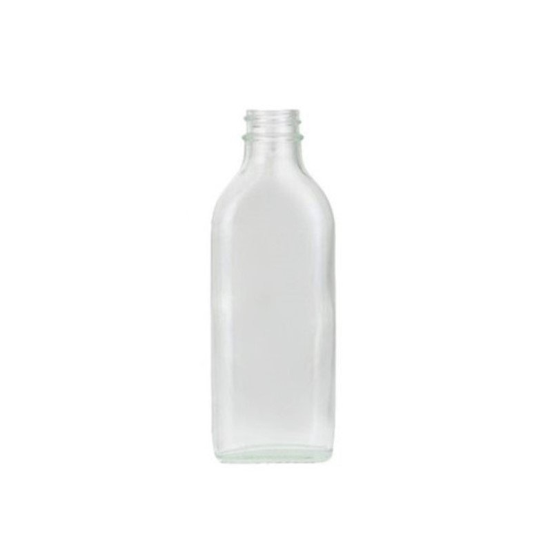 100ml Clear Sloping Shoulder Flat Bottle