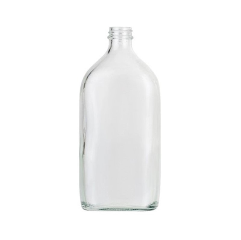 500ml Clear Sloping Shoulder Flat Bottle
