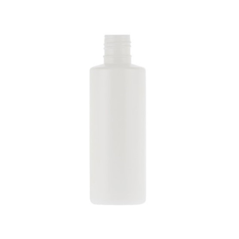 125ml White HDPE Standard Cylindrical Bottle
