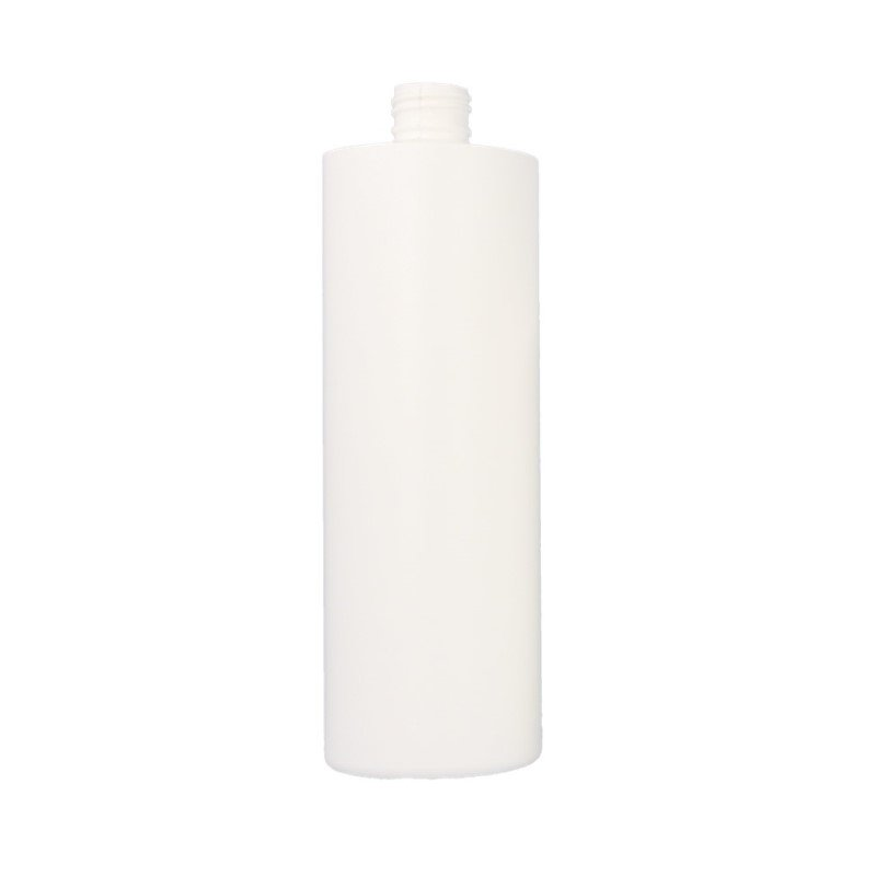 500ml White HDPE Cylindrical Round Bottle