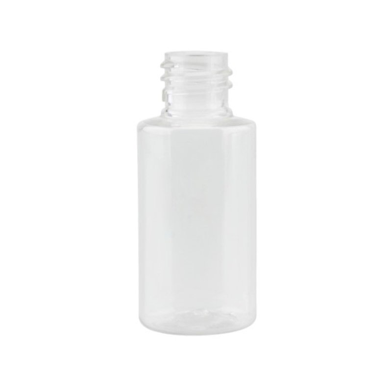30ml Clear PET Sharp Cylindrical Bottle