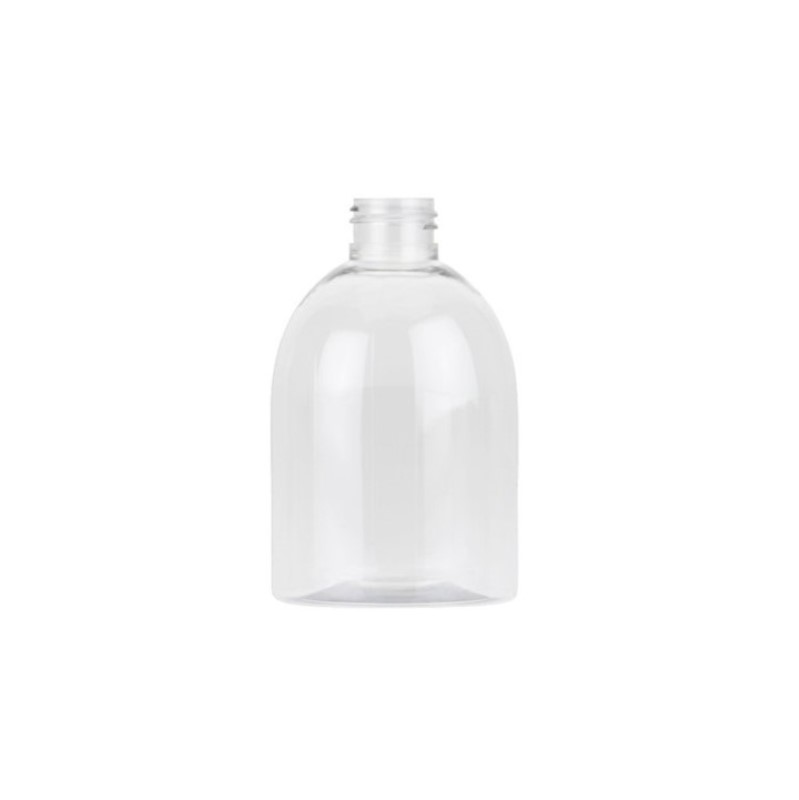 250ml Clear PET Dumpy Boston Round Bottle