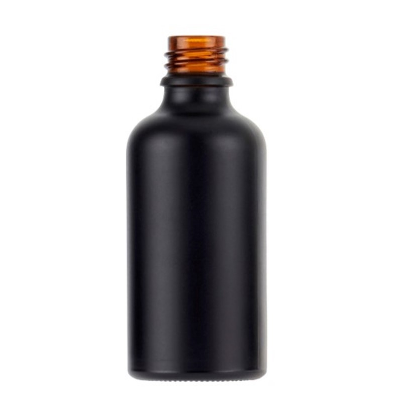 50ml Matt Black Fusion Dropper Bottle, sprayed, bagged