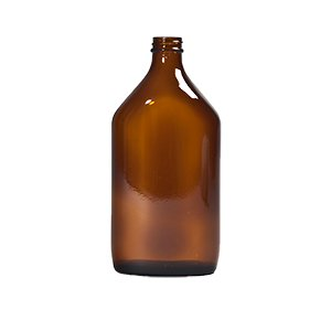 500ml Amber Medical Flat Bottle