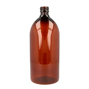 1 L Amber PET Sirop Bottle