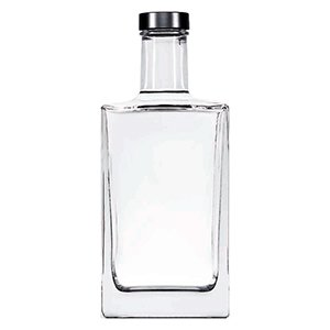700ml Clear Qbic Bottle Corkmouth