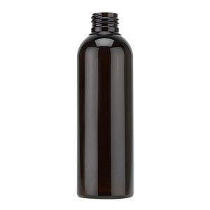 200ml Dark Amber PET Tall Boston Round Bottle - Layer Packed